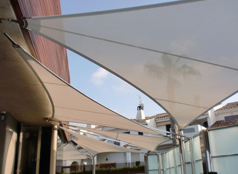 Toldos de vela para terrazas trendy toldostela toldo - Toldos velas para terrazas ...